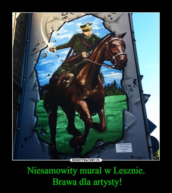 Niesamowity mural w Lesznie. Brawa dla artysty! –
