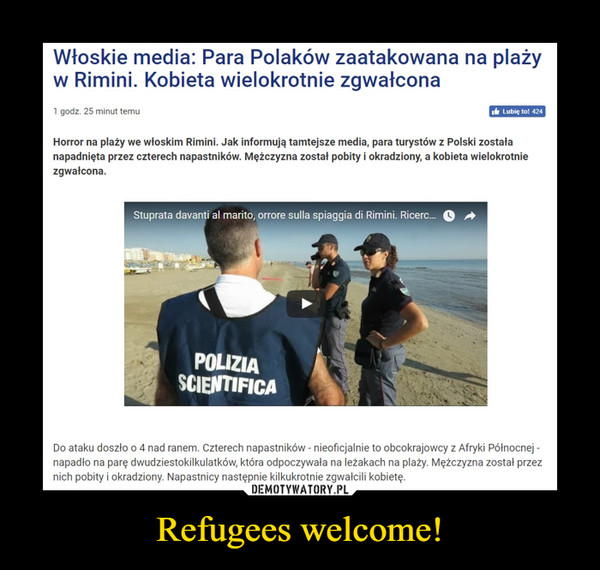 Refugees welcome! –