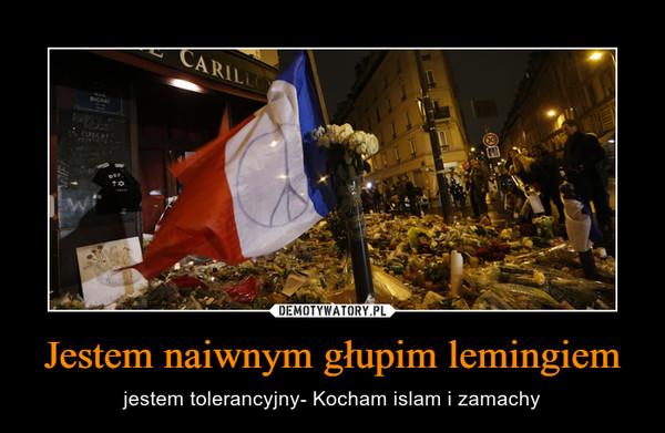 Jestem naiwnym głupim lemingiem – jestem tolerancyjny- Kocham islam i zamachy