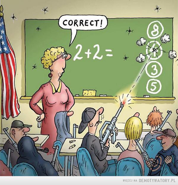 Tymczasem w amerykańskiej szkole –