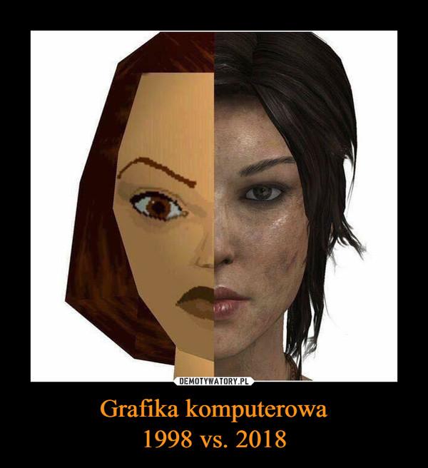Grafika komputerowa1998 vs. 2018 –