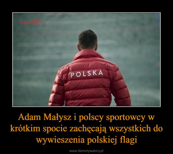 Adam Małysz i polscy sportowcy w krótkim spocie zachęcają wszystkich do wywieszenia polskiej flagi –