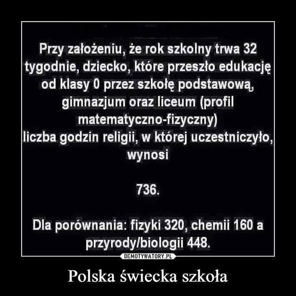 Polska świecka szkoła –