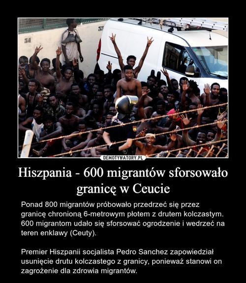 Hiszpania - 600 migrantów sforsowało granicę w Ceucie