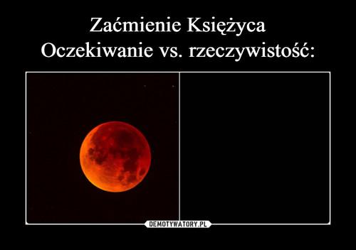 Zaćmienie Księżyca Oczekiwanie vs. rzeczywistość: