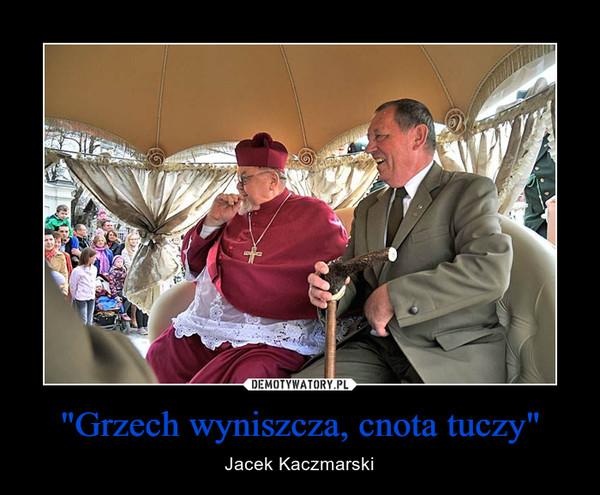 """""""Grzech wyniszcza, cnota tuczy"""" – Jacek Kaczmarski"""