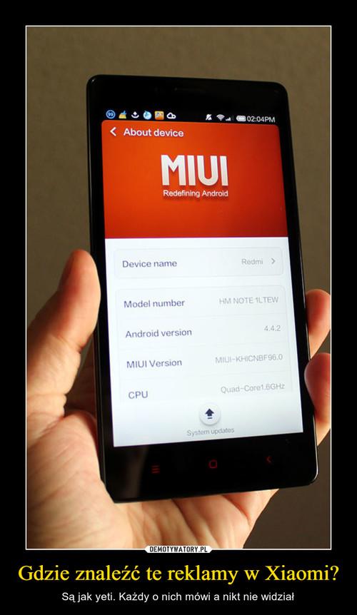Gdzie znaleźć te reklamy w Xiaomi?