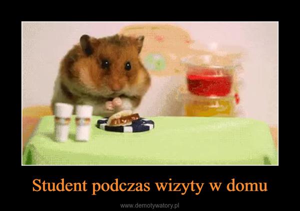 Student podczas wizyty w domu –