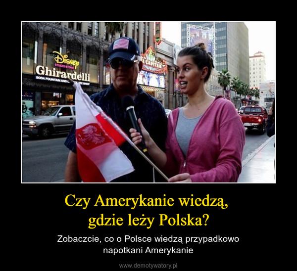 Czy Amerykanie wiedzą, gdzie leży Polska? – Zobaczcie, co o Polsce wiedzą przypadkowonapotkani Amerykanie