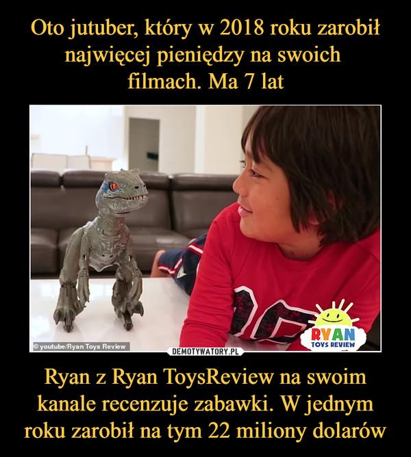 Ryan z Ryan ToysReview na swoim kanale recenzuje zabawki. W jednym roku zarobił na tym 22 miliony dolarów –