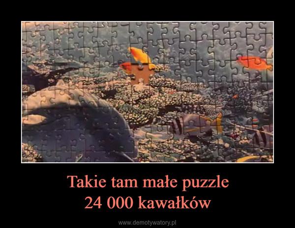 Takie tam małe puzzle24 000 kawałków –