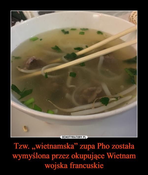 """Tzw. """"wietnamska"""" zupa Pho została wymyślona przez okupujące Wietnam wojska francuskie –"""