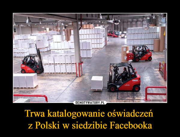 Trwa katalogowanie oświadczeń z Polski w siedzibie Facebooka –
