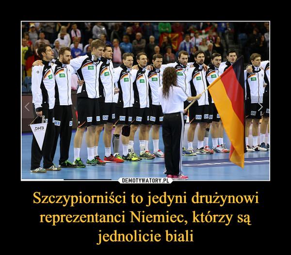 Szczypiorniści to jedyni drużynowi reprezentanci Niemiec, którzy są jednolicie biali –