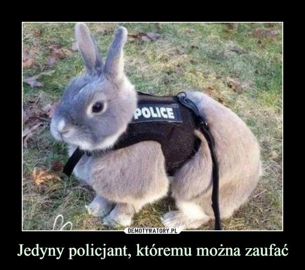 Jedyny policjant, któremu można zaufać –