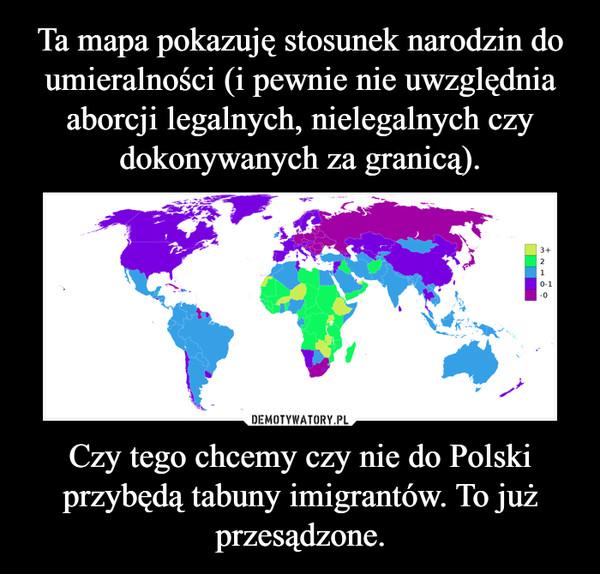 Czy tego chcemy czy nie do Polski przybędą tabuny imigrantów. To już przesądzone. –