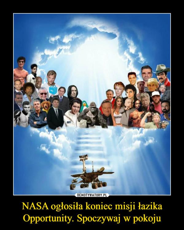 NASA ogłosiła koniec misji łazika Opportunity. Spoczywaj w pokoju –
