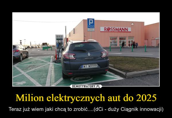 Milion elektrycznych aut do 2025 – Teraz już wiem jaki chcą to zrobić....(dCi - duży Ciągnik innowacji)