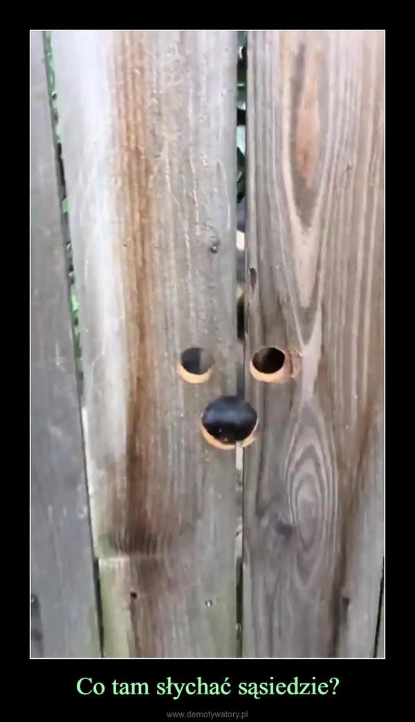 Co tam słychać sąsiedzie? –