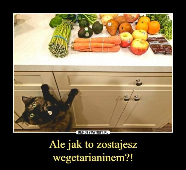 Ale jak to zostajesz wegetarianinem?! –