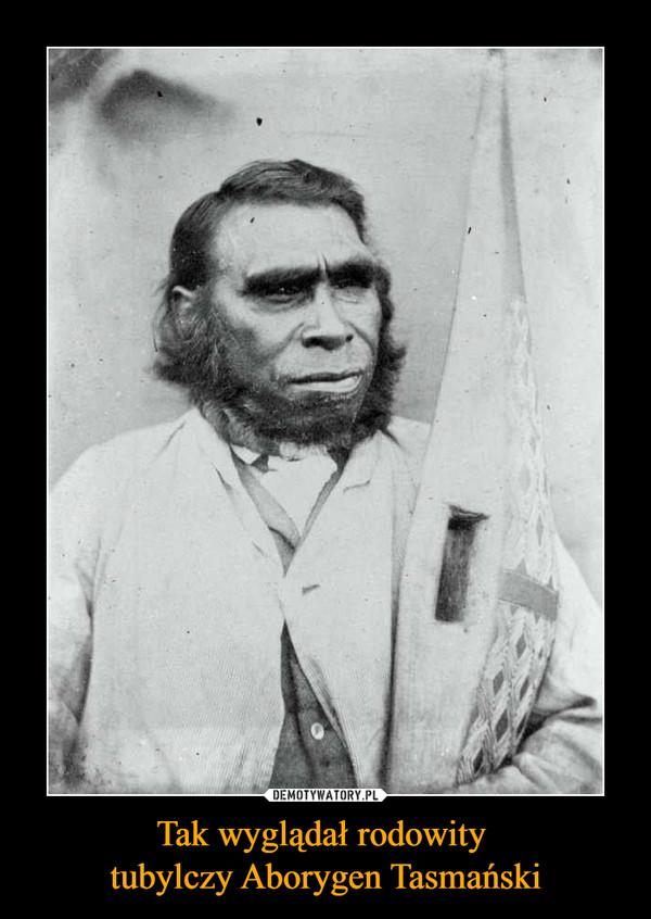 Tak wyglądał rodowity tubylczy Aborygen Tasmański –