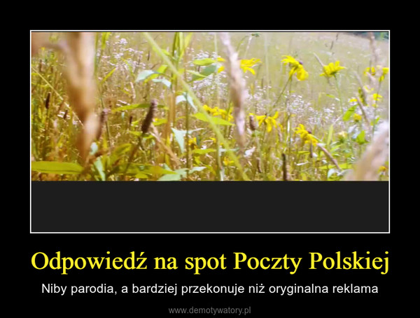 Odpowiedź na spot Poczty Polskiej – Niby parodia, a bardziej przekonuje niż oryginalna reklama