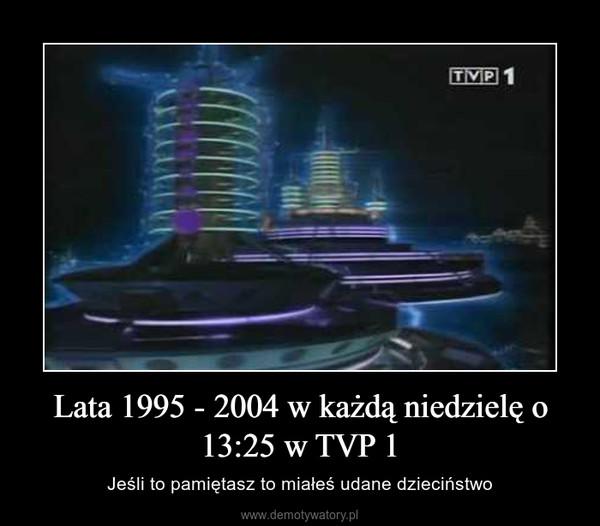 Lata 1995 - 2004 w każdą niedzielę o 13:25 w TVP 1 – Jeśli to pamiętasz to miałeś udane dzieciństwo
