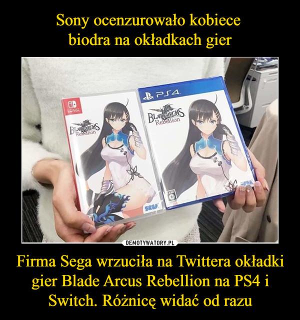 Firma Sega wrzuciła na Twittera okładki gier Blade Arcus Rebellion na PS4 i Switch. Różnicę widać od razu –