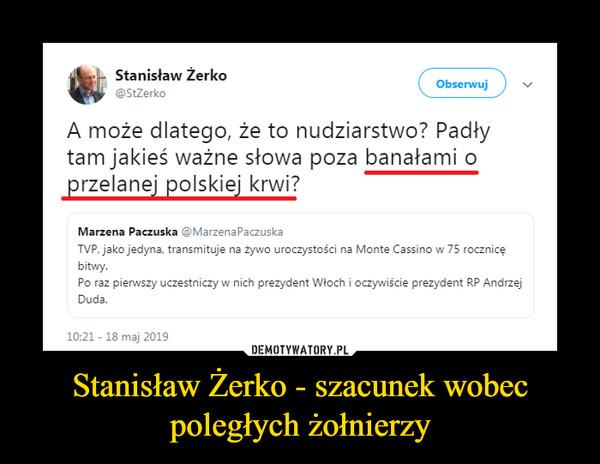 Stanisław Żerko - szacunek wobec poległych żołnierzy –