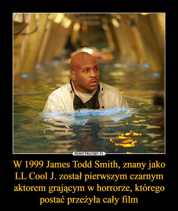 W 1999 James Todd Smith, znany jako LL Cool J. został pierwszym czarnym aktorem grającym w horrorze, którego postać przeżyła cały film –