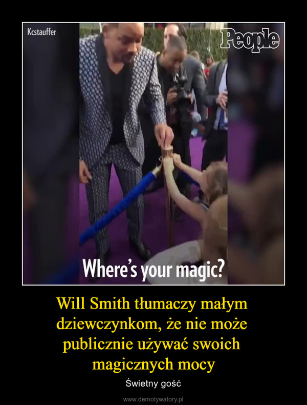 Will Smith tłumaczy małym dziewczynkom, że nie może publicznie używać swoich magicznych mocy – Świetny gość