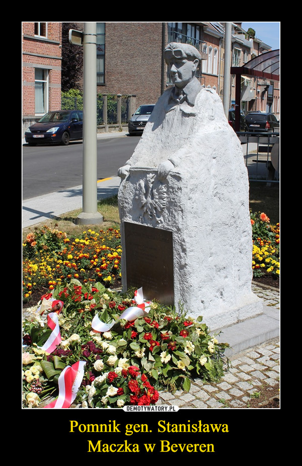 Pomnik gen. Stanisława Maczka w Beveren –