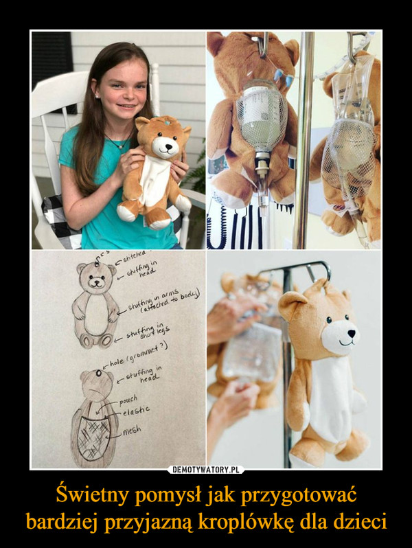 Świetny pomysł jak przygotować bardziej przyjazną kroplówkę dla dzieci –