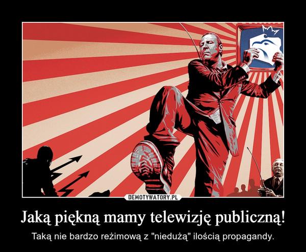 """Jaką piękną mamy telewizję publiczną! – Taką nie bardzo reżimową z """"niedużą"""" ilością propagandy."""