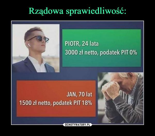 –  PIOTR, 24 lata3000 zł netto, podatek PIT 0%JAN, 70 lat1500 zł netto, podatek PIT18%