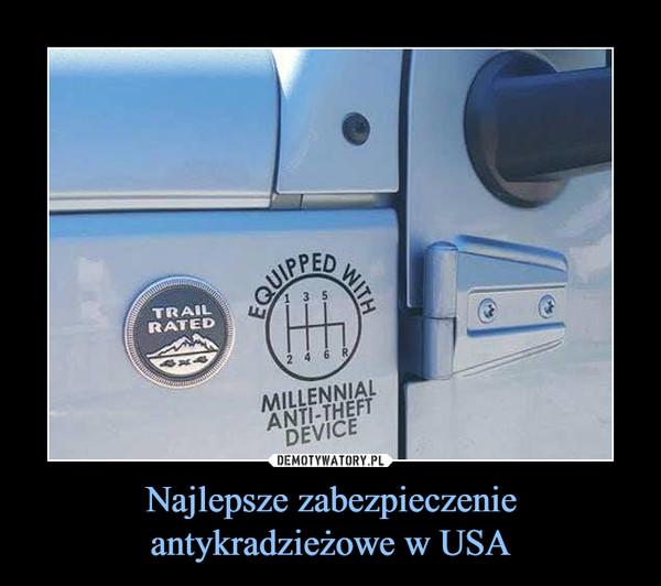 Najlepsze zabezpieczenie antykradzieżowe w USA –