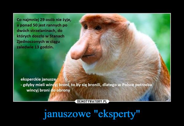 "januszowe ""eksperty"" –"