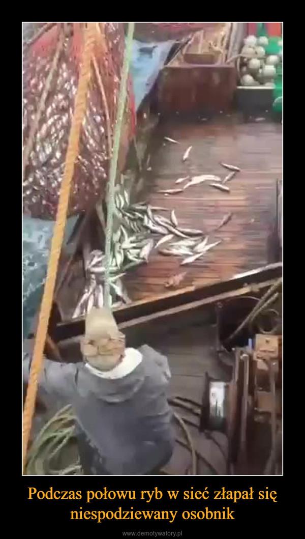 Podczas połowu ryb w sieć złapał się niespodziewany osobnik –