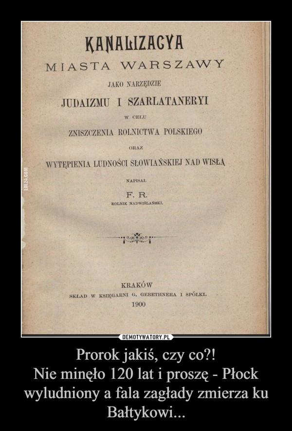 Prorok jakiś, czy co?!Nie minęło 120 lat i proszę - Płock wyludniony a fala zagłady zmierza ku Bałtykowi... –
