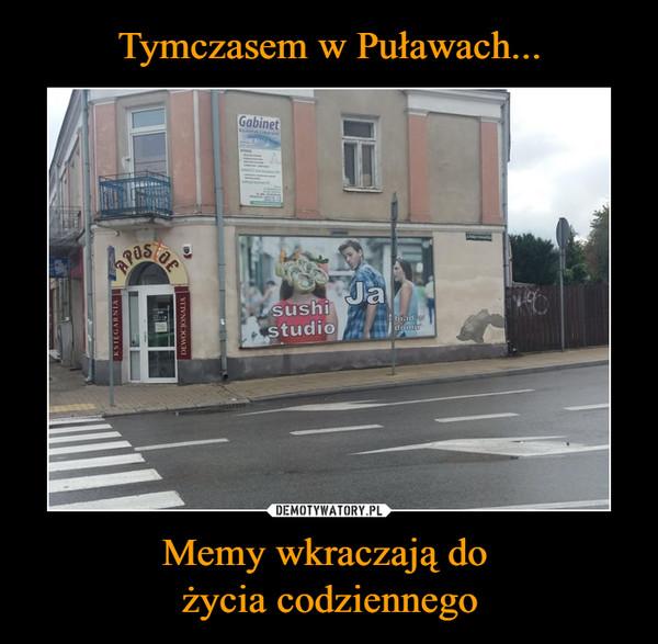 Tymczasem w Puławach... Memy wkraczają do  życia codziennego
