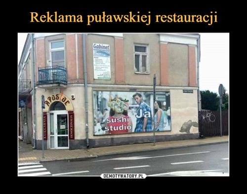Reklama puławskiej restauracji