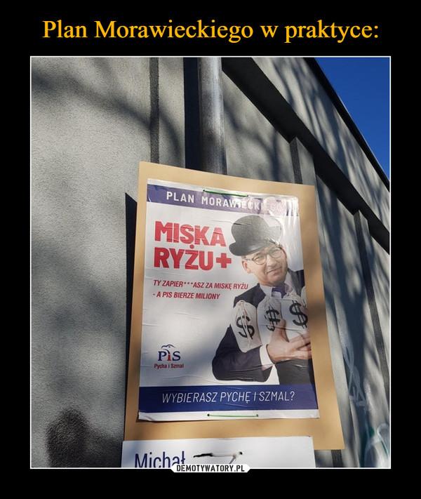 –  Plan Morawieckiego Miska ryżu + Ty zapier**lasz za misę ryżu a pis bierze miliony Wybierasz pychę i szmal?