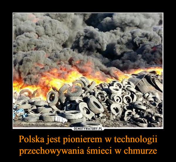 Polska jest pionierem w technologii przechowywania śmieci w chmurze –