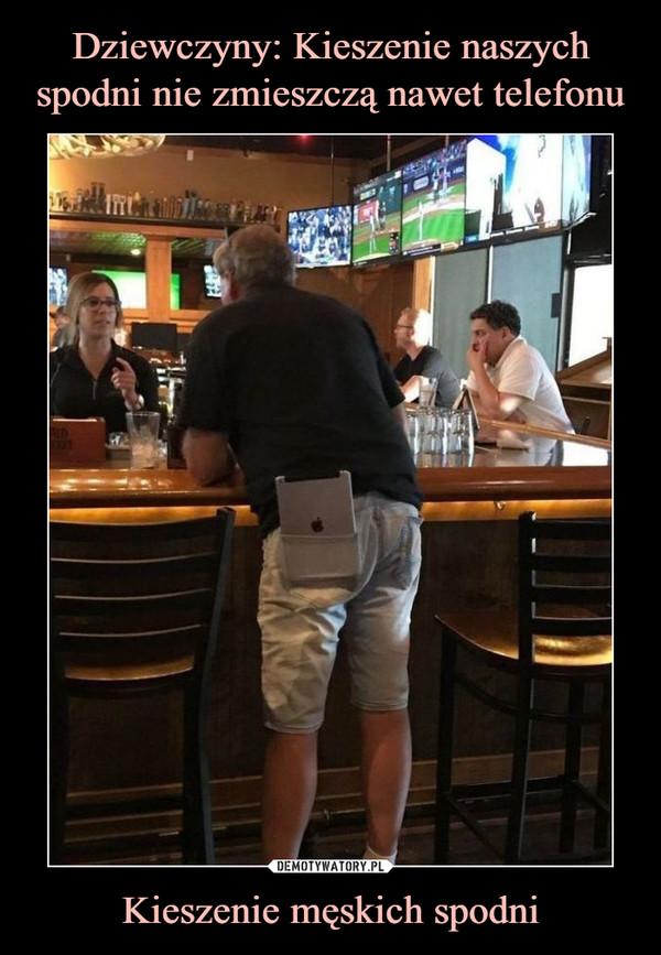 Kieszenie męskich spodni –