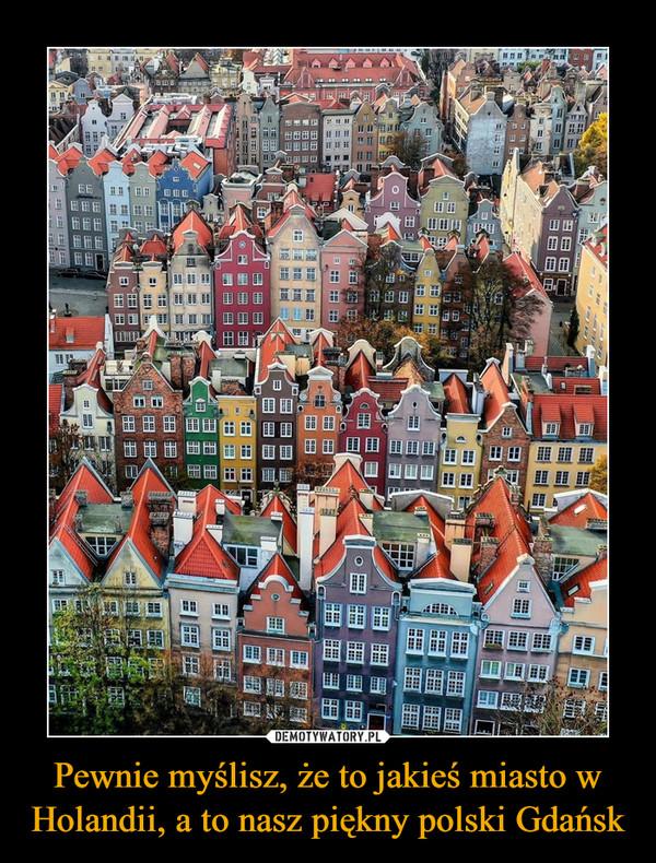Pewnie myślisz, że to jakieś miasto w Holandii, a to nasz piękny polski Gdańsk –