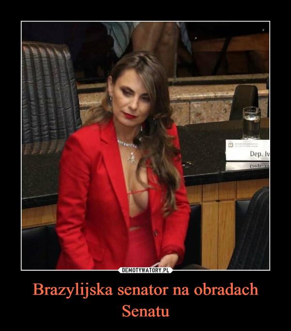 Brazylijska senator na obradach Senatu –