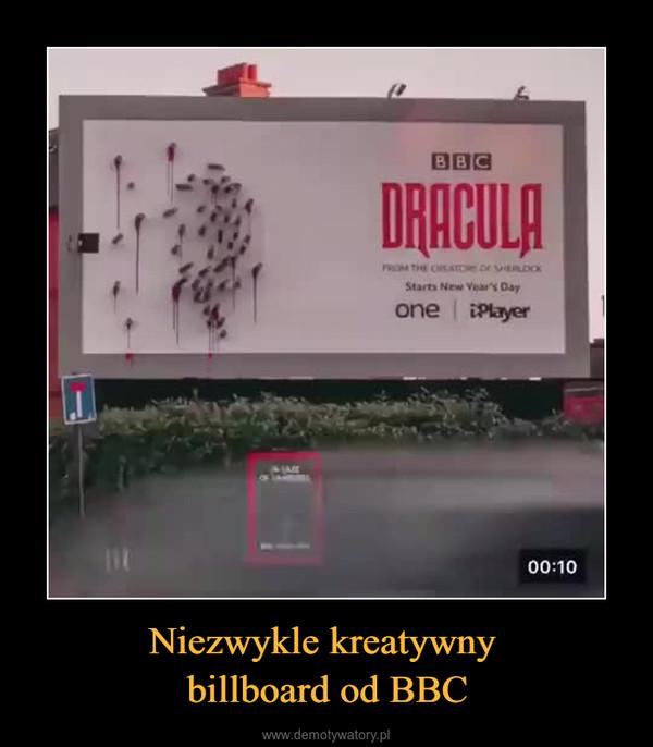 Niezwykle kreatywny billboard od BBC –