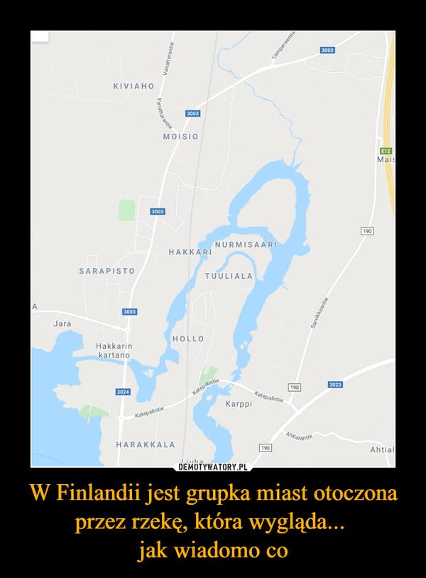 W Finlandii jest grupka miast otoczona przez rzekę, która wygląda... jak wiadomo co –