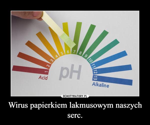 Wirus papierkiem lakmusowym naszych serc. –