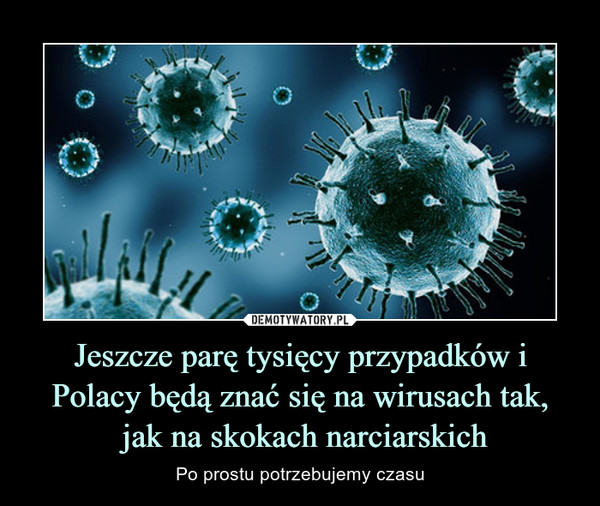 Jeszcze parę tysięcy przypadków i Polacy będą znać się na wirusach tak, jak na skokach narciarskich – Po prostu potrzebujemy czasu